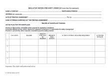 blank risk assessment template .